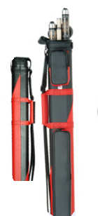 2x2 Oval Red/Black Cue Case (122RB)