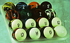Marbleized Ball Set with Strips