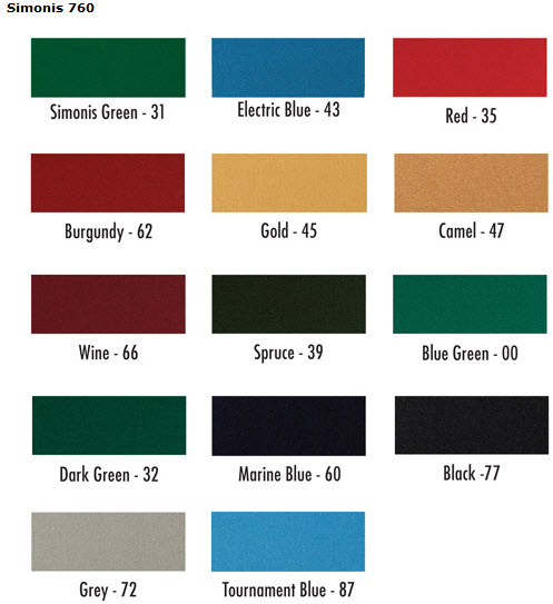 Perfect Simonis 760 And 860 Billiard And Pool Table Cloth