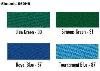 Simonis Billiard And Pool Table Cloth - Simonis pool table felt colors